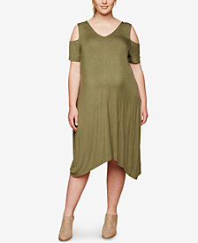 Motherhood Maternity Plus Size Cold-Shoulder Dress