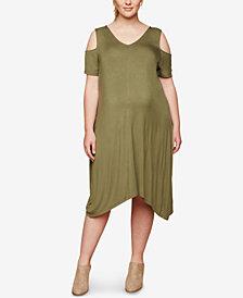 Motherhood Maternity Plus Size Cold-Shoulder Dress