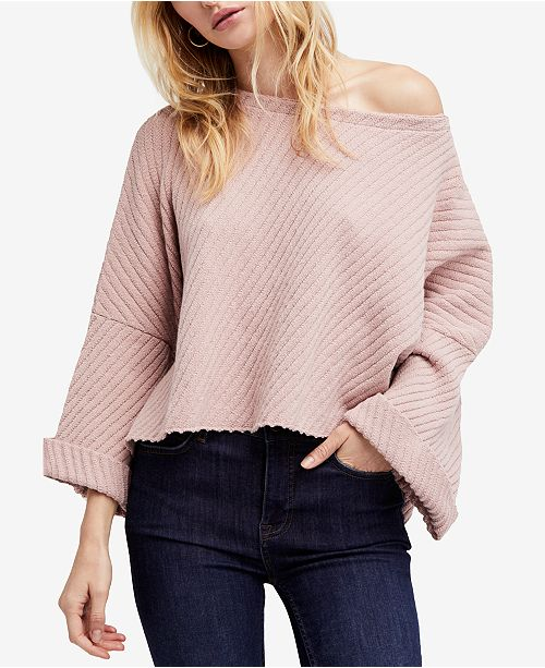 18a5e378b Free People I Can't Wait Cropped Oversized Sweater & Reviews ...