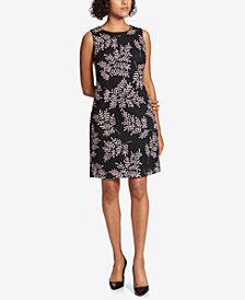 Tommy Hilfiger Printed Burnout Sheath Dress