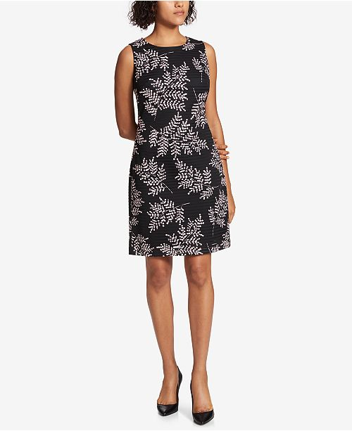 Tommy Hilfiger Printed Burnout Sheath Dress