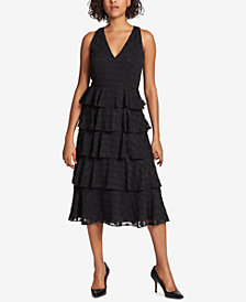 Tommy Hilfiger Tiered Textured Dress