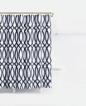 kate spade new york Painted Trellis Cotton Shower Curtain