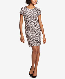 Tommy Hilfiger Printed Lace Shift Dress