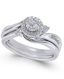 Diamond Twist Bridal Set (1/3 ct. t.w.) in 14k White Gold