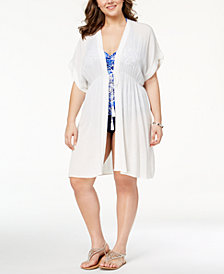 Lauren Ralph Lauren Plus Size Crinkle Cover-Up
