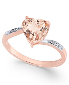 Morganite (1-3/4 ct. t.w.) & Diamond Accent Ring in 14k Rose Gold