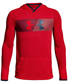 Under Armour Threadborne Logo-Graphic Hoodie, Big Boys