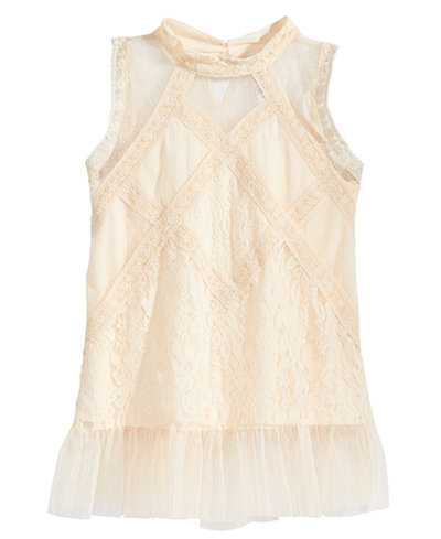 Beautees Victorian Lace Top, Big Girls