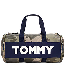 Tommy Hilfiger Nylon Sporty Camo Duffle Bag