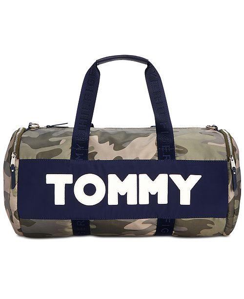 2713583d14a Tommy Hilfiger Nylon Sporty Camo Duffle Bag - Handbags   Accessories ...