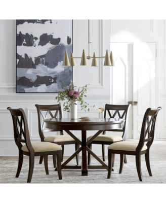 Magnificent Baker Street Round Expandable Dining Furniture Collection Created For Macys Unemploymentrelief Wooden Chair Designs For Living Room Unemploymentrelieforg