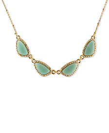 RACHEL Rachel Roy Gold-Tone Blue Stone Necklace