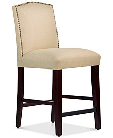 Callon Linen Counter Stool, Quick Ship