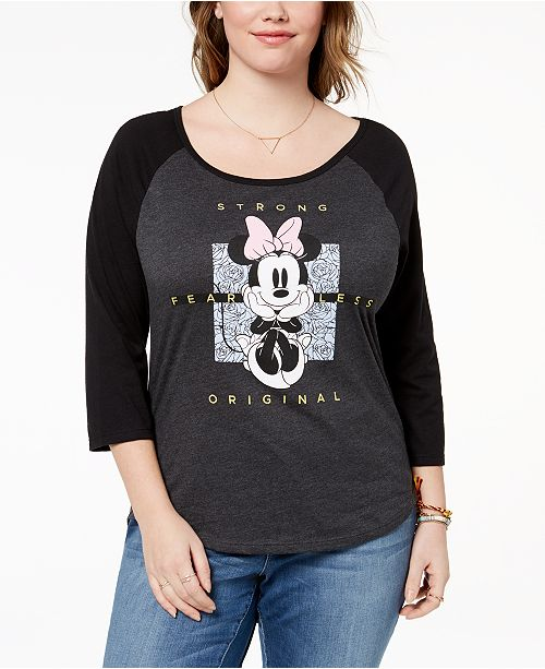 Disney Hybrid Plus Size Minnie Mouse T-Shirt & Reviews ...