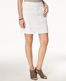 Style & Co Pull-On Frayed-Hem Skort, Created for Macy's