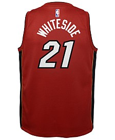 Nike Hassan Whiteside Miami Heat Statement Swingman Jersey, Big Boys (8-20)