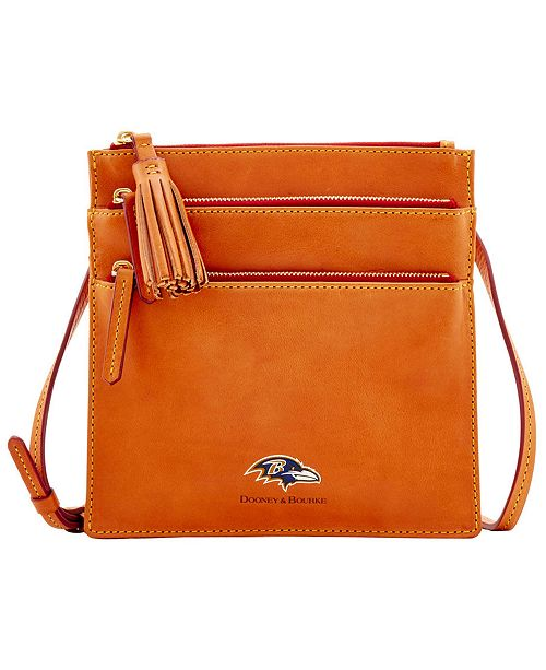Dooney & Bourke Baltimore Ravens Florentine Triple Zip Crossbody Bag