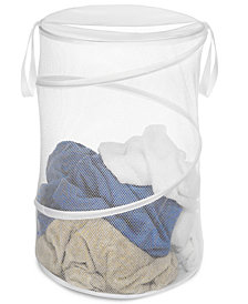 "Whitmor Mesh Hamper, 15"" Collapsible"