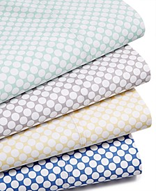 CLOSEOUT! Printed Dot Sheet Sets, 500 Thread Count, Created for Macy's