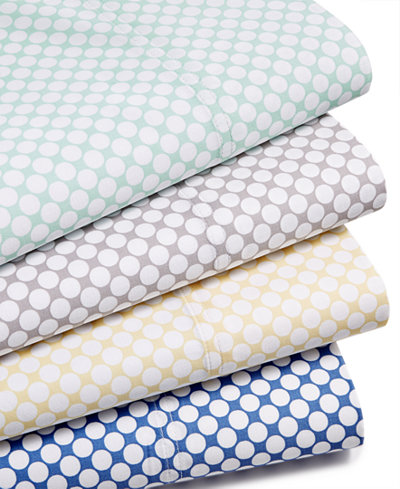 Charter Club Damask Designs Printed Dot Sheet Sets, 500 Thread Count, Created for Macy's