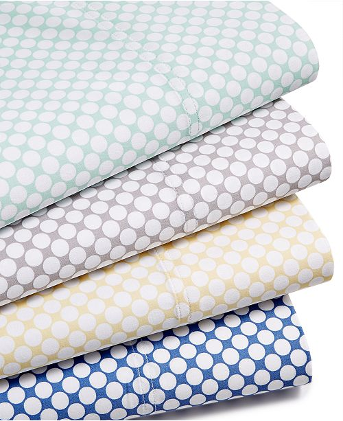 Charter Club Printed Dot Sheet Sets, 500 Thread Count, Created for Macy's