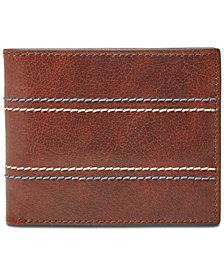 Fossil Men's Reese Bifold Flip ID Leather Wallet
