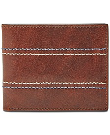 Fossil Men's Reese Bifold Flip ID Leather Wallet