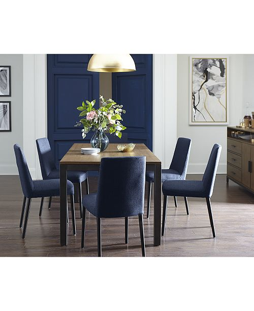 CLOSEOUT! Gatlin Dining Furniture, 7-Pc  Set (Dining Table & 6 Dining  Chairs), Created for Macy's