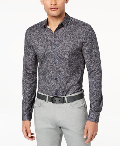Calvin Klein Men's Abstract Printed Shirt