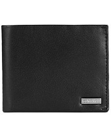Men's Smooth Shine Leather Bifold ID Wallet