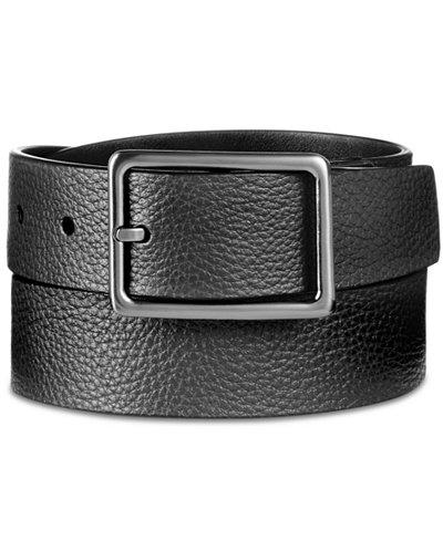 Calvin Klein Men's Pebble Leather Belt
