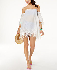 MINKPINK Cotton Off-The-Shoulder Cover-Up Dress