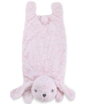 Luxury Plush Tummy Time Mat Blanket Pink Bunny