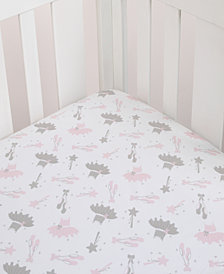 Nojo Ballerina Bows Crib Sheet