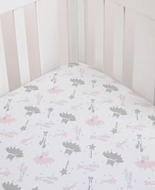 Nojo Ballerina Bows Crib Sheet