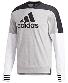 adidas Men's Colorblocked Drop-Shoulder Sweatshirt