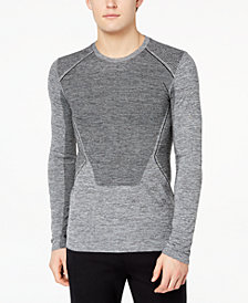 Ideology Men's Body Map Jacquard Long-Sleeve T-Shirt, Created for Macy's