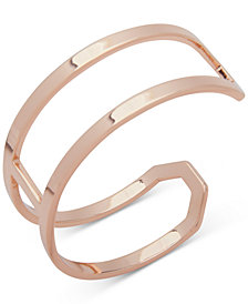 Ivanka Trump Rose Gold-Tone Open Double-Row Cuff Bracelet