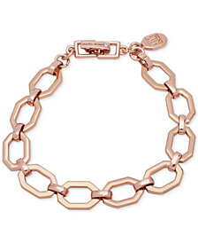 Ivanka Trump Rose Gold-Tone Open Geometric Link Bracelet