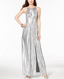 MICHAEL Michael Kors Metallic Maxi Dress,Created for Macy's
