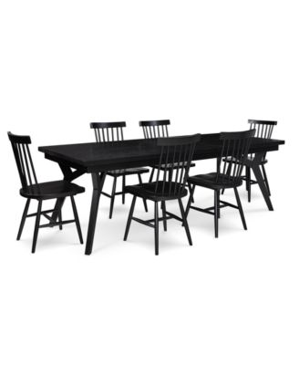 Bensen Dining Furniture, 7-Pc. Set (Expandable Dining Table & 6 Side Chairs), Created for Macy's
