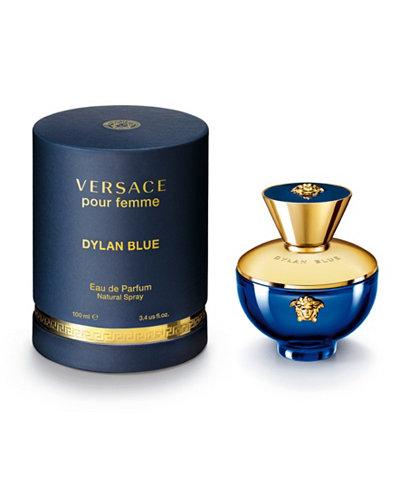 Versace Dylan Blue Pour Femme Eau de Parfum Spray, 3.4 oz.