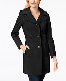 Anne Klein Hooded Lightweight Trench Coat