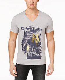 A|X Armani Exchange Men's Logo-Print V-Neck T-Shirt