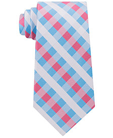 Tommy Hilfiger Men's Derby Small Gingham Silk Tie