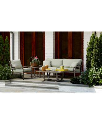 Tara Aluminum Outdoor Ottoman, with Sunbrella® Cushion, Created for Macy's
