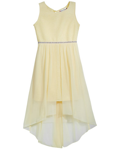 Crystal Doll High-Low Overlay Tank Dress, Big Girls