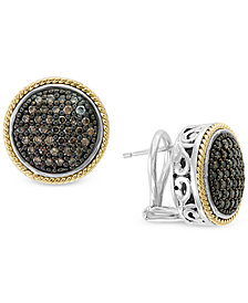 Effy Diamond Round Filigree Stud Earrings 1 2 Ct T W In