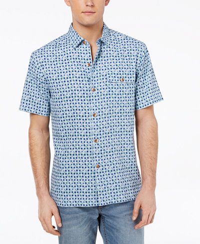 Tommy Bahama Men's Atomic Geo-Print Silk Shirt